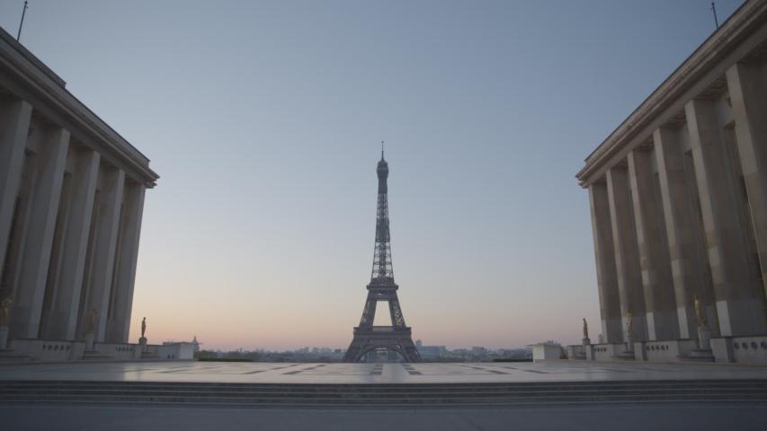Tour Eiffel Paris Vide Coronavirus Confinement | Shutterstock HD Video #1049307319