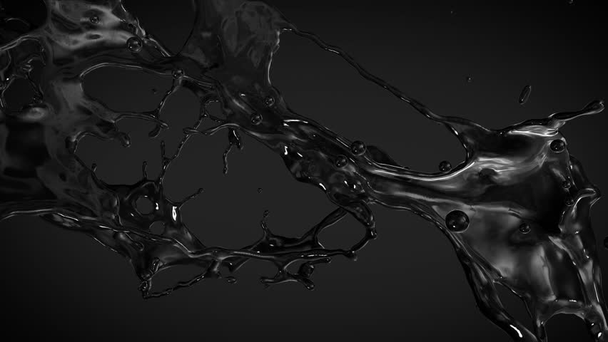 Stock video of black oil with alpha. slow motion ...  Stock video of ...