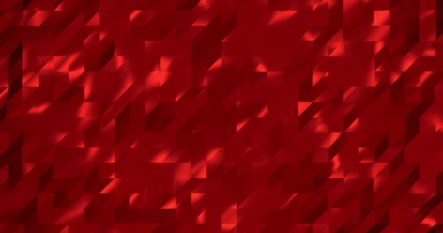 Abstract red 3D geometric pattern. Mosaic metall background for business presentation. | Shutterstock HD Video #1049471449