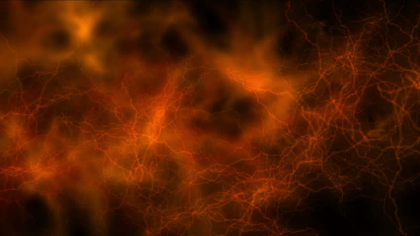 4k Abstract red lightning magnetic field background& fire in space,melting magma,power electric electricity thunderstorm energy,hot magic flames,smelting chemical backdrop. 1226_4k