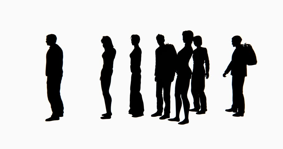 4k Group of People Silhouette Stock Footage Video (100% ...