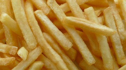 French fries background, closeup shot