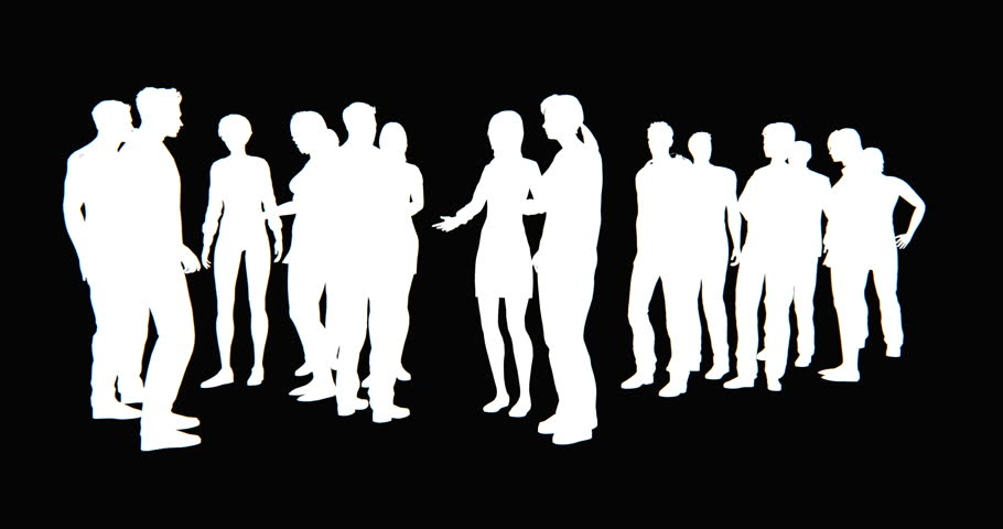 4k a group of Business people silhouette talking. cg_02767_4k