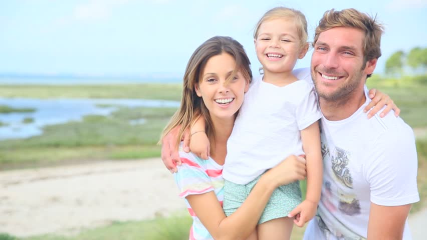 Portrait Of Happy Family Laughing Stock Footage Video 100