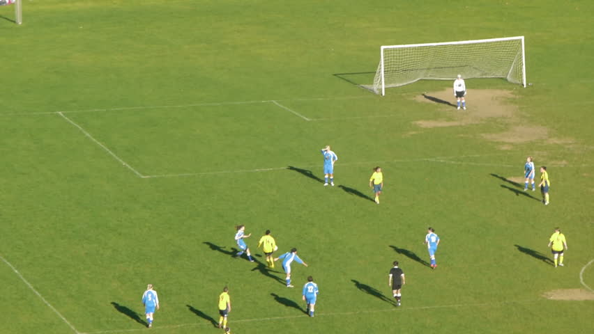 Women playing soccer Football