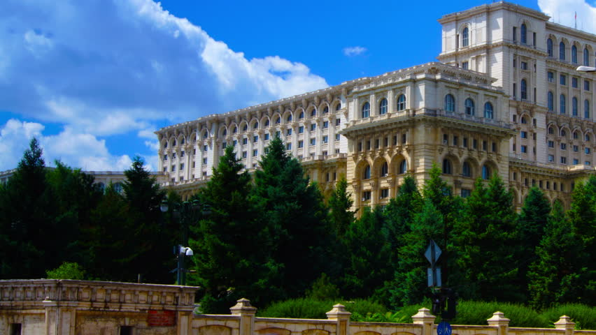 bucharest romania june 2015romanian parliament or peoples house in bucharest capital