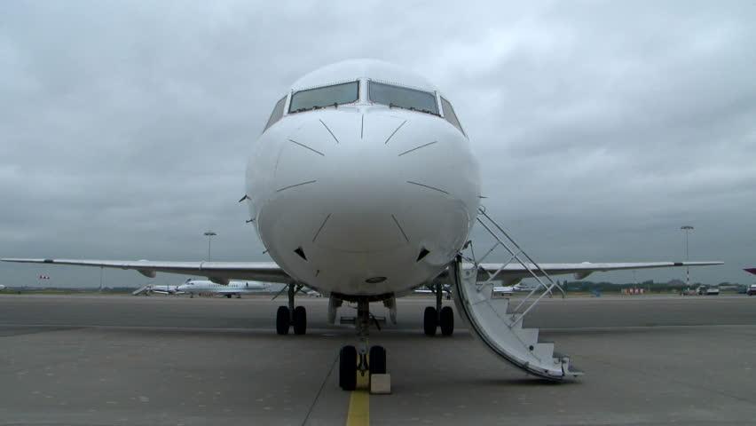 Airplane door opening before trakeoff & Airplane Door Stock Footage Video | Shutterstock Pezcame.Com