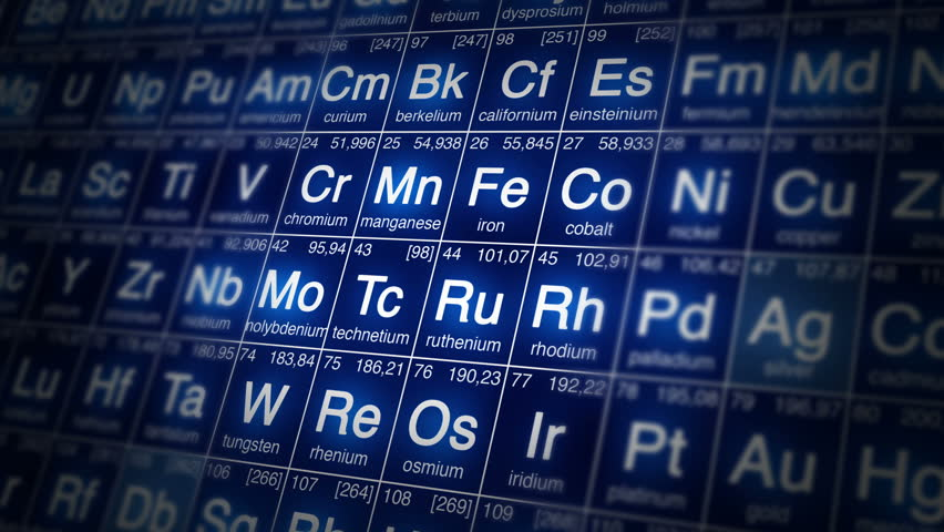 periodic table perfect loop background loopable blue white or red 4k ultra hd perfect loop of periodic table of elements animation - Periodic Table Of Elements Hd