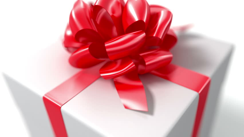 Unpacking a Gift. beautiful 3d animation with a depth of field. Full HD (See more animations with presents in my portfolio)