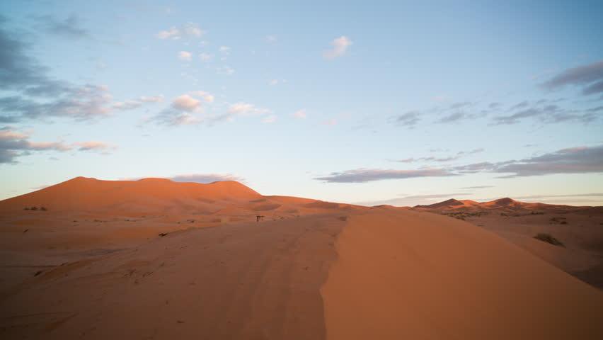 4k sunset timelapse of the amazing Erg chebbi dunes in the sahara desert, morocco | Shutterstock HD Video #10756811