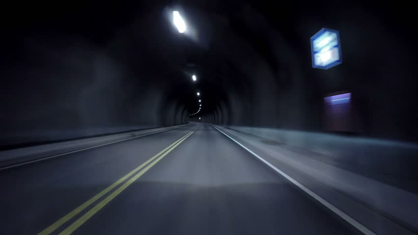 Car rides through the tunnel point-of-view driving | Shutterstock HD Video #10763972