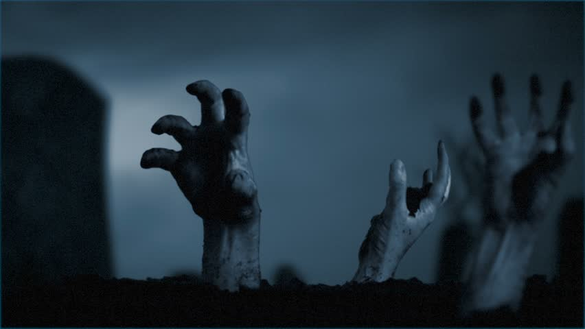 Rise of the Dead/The zombies are rising from their graves! A dark and creepy motion background for your Halloween video.