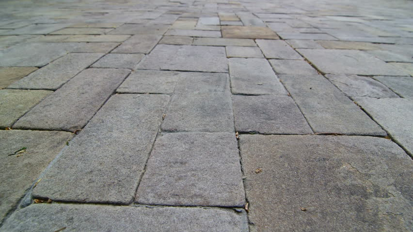 Attractive Patio Paving Slab Dolly Shot   HD Stock Footage Clip