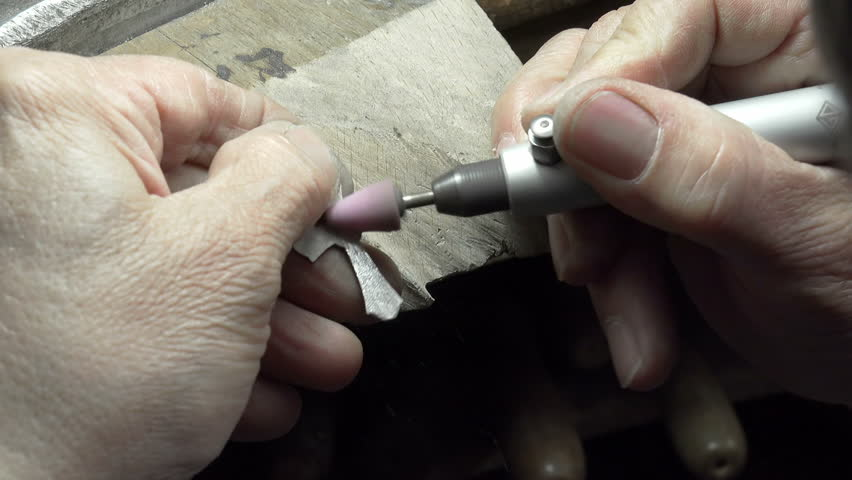 Hand Polishing Gold Jewelry Ring Jeweler Production And Making