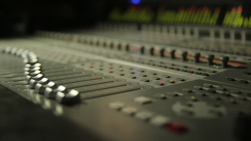 Digital Sound Mixer In The Studio