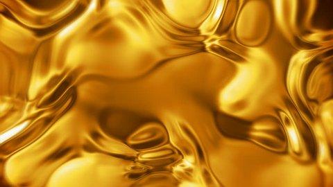 Liquid gold metal surface (seamless looping)