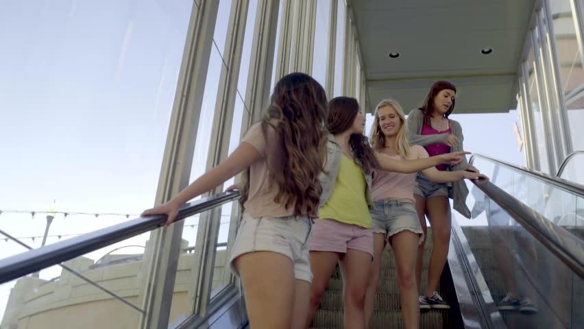 Teen at mall