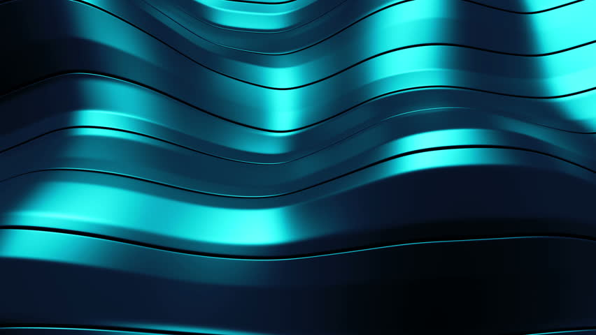 3d rendered waving shape background made of parallel long rectangles  | Shutterstock HD Video #10846709