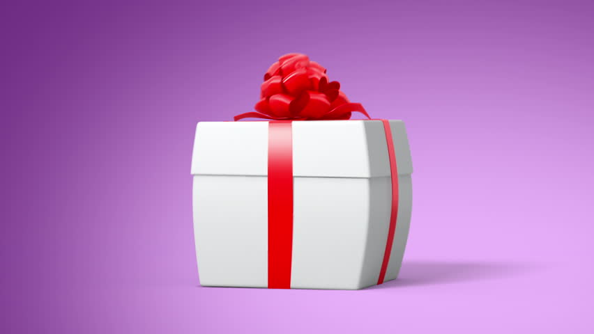 Revolving gift loop high definition animated loop of a gift box jumping gift with the money 3d animation full hd see more animations with negle Images