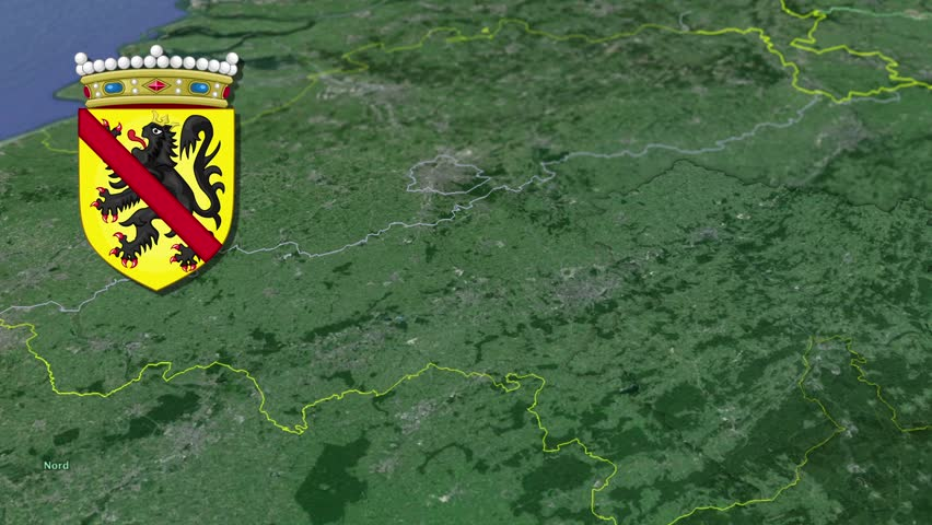 Walloon Brabant White Coat Of Arms Animation Map Provinces Of