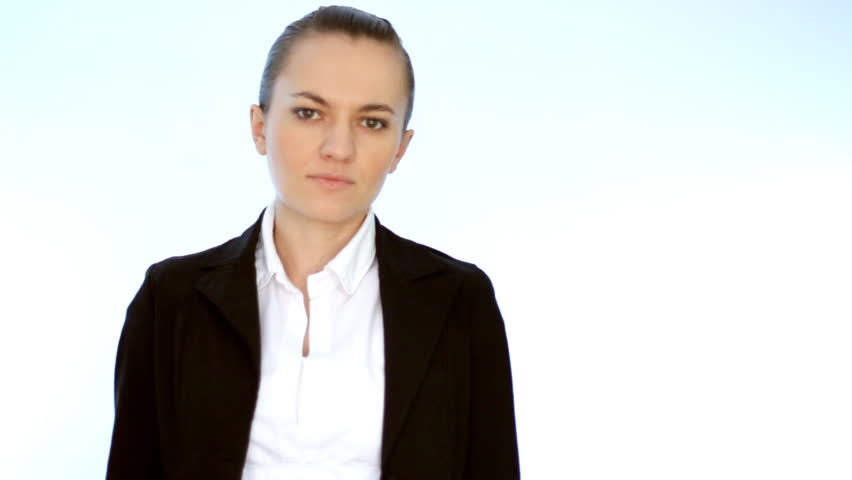Young businesswoman showing thumb down    Shutterstock HD Video #1086931