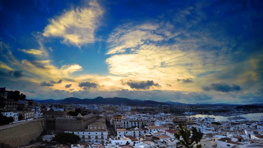 Sunset in Ibiza, time lapse, 4K UHD video