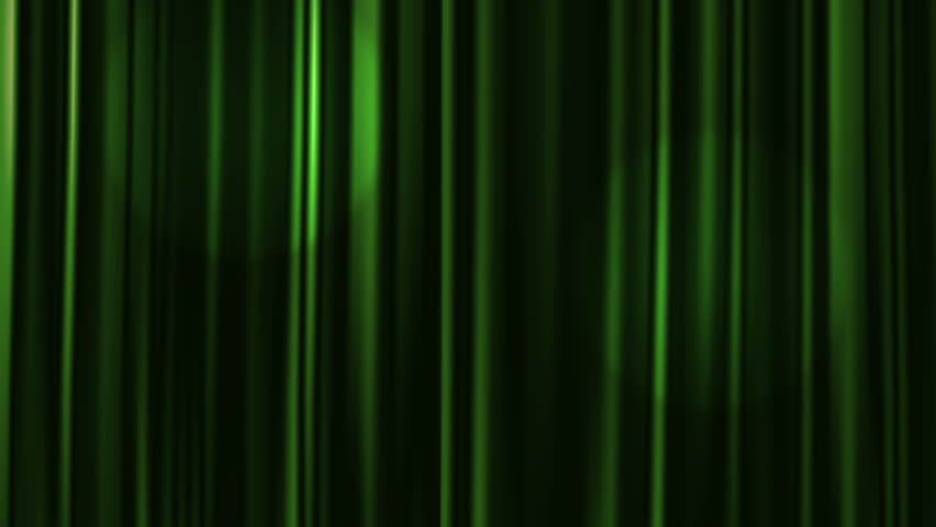 green curtains open with spotlights plus alpha matte hd stock video clip