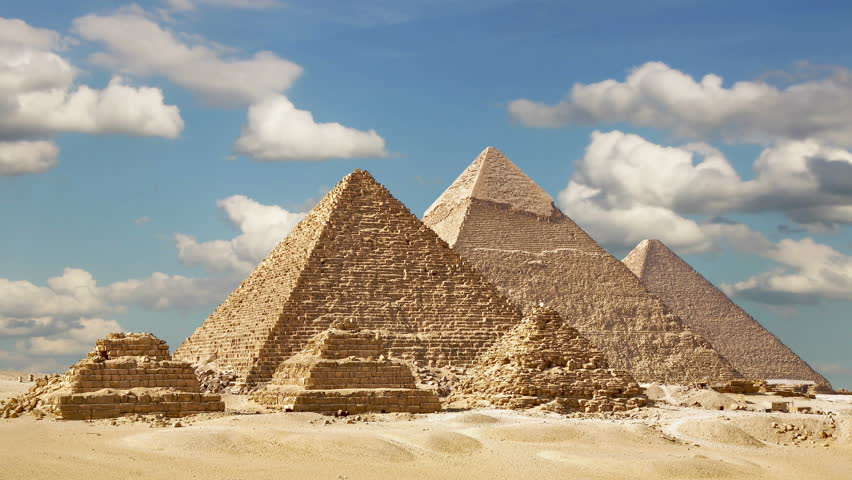 Time lapse Of The Great Pyramids In Giza Valley, Cairo, Egypt