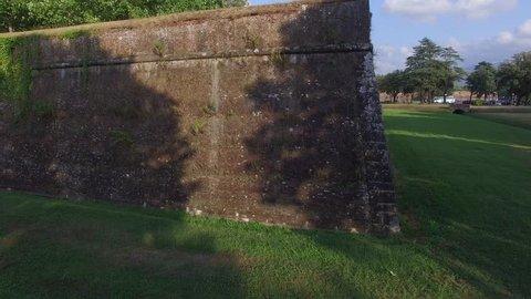 Lucca ancient walls.  professional  4K 30fps