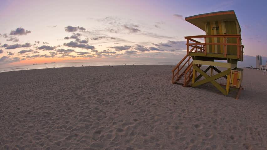 Miami Beach sunrise timelapse