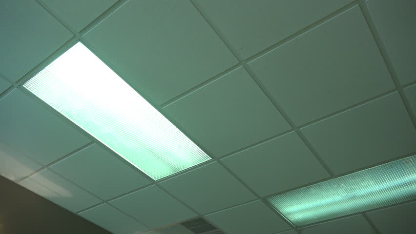 An Office Fluorescent Light Turns On Then Off. Stock Footage Video ...