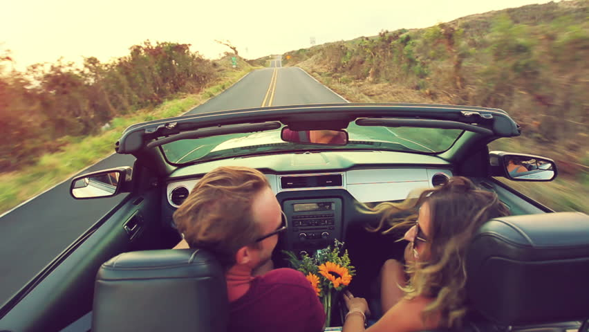 Image result for driving a convertible in the country