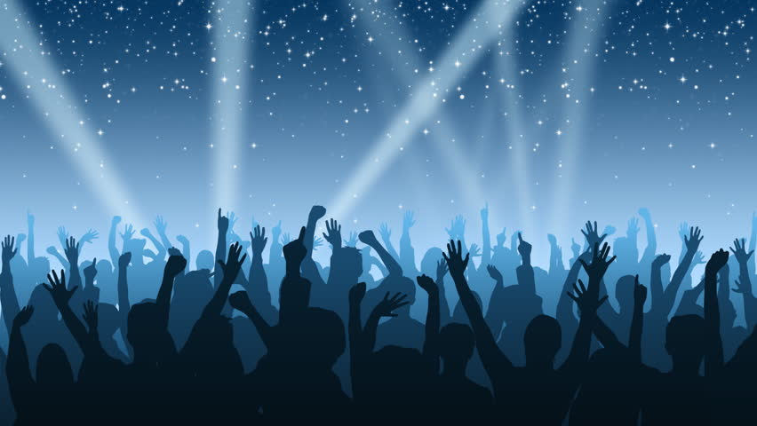 Cheering crowd background stock footage video 100 - Concert crowd wallpaper ...