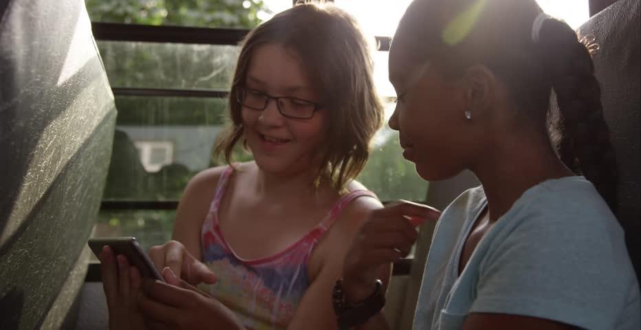 Friends on the school bus - young kids | Shutterstock HD Video #11235389