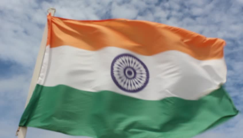 Flag Of India In The Wind