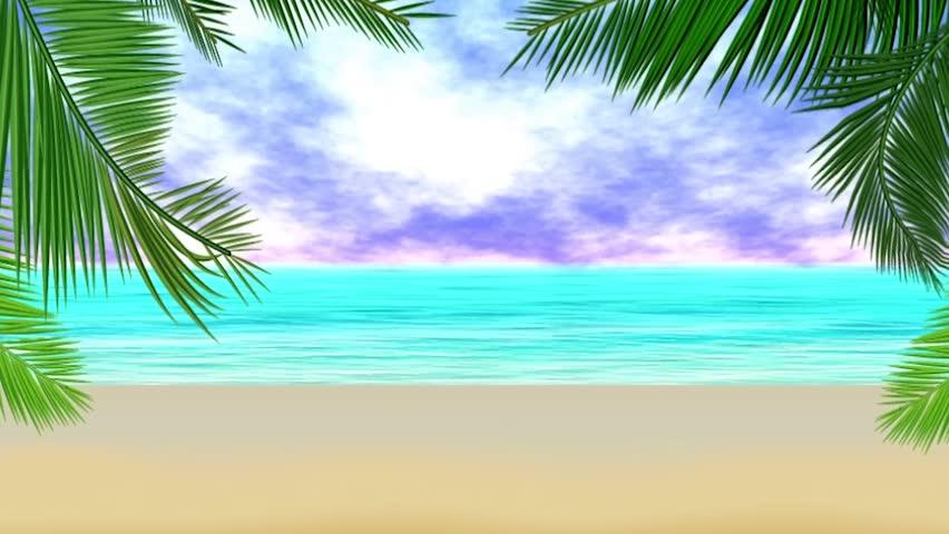 Animated beach waves