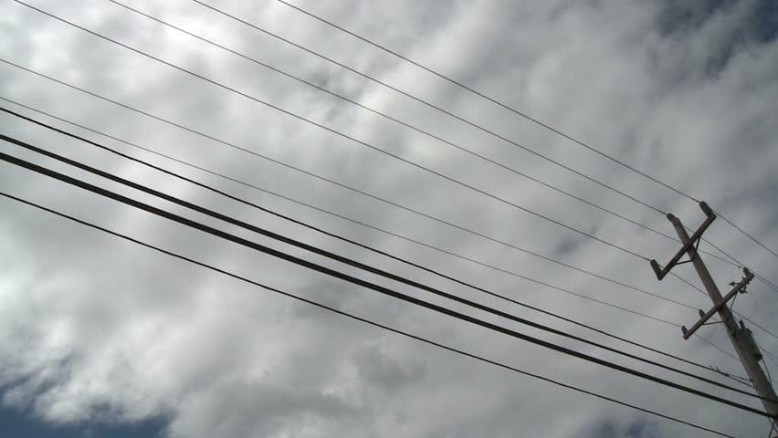 Telephone Pole & Clouds
