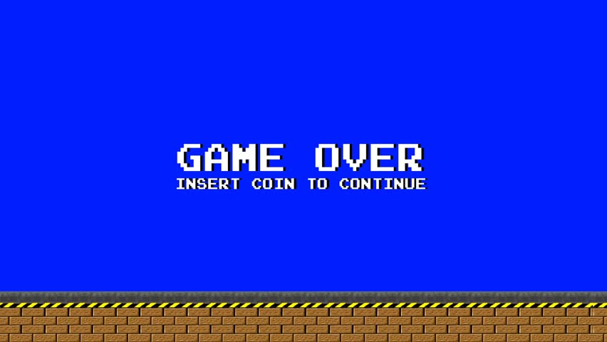 Old Video Arcade Platform Game Over | Shutterstock HD Video #11381849