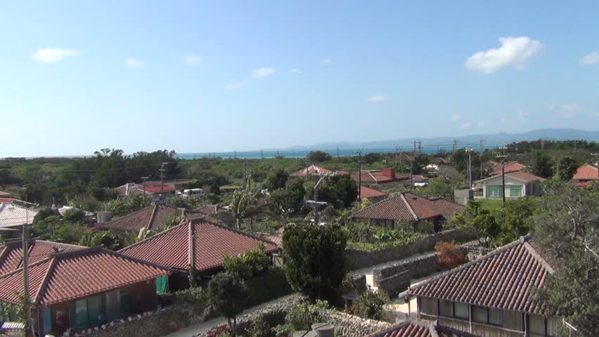Taketomi Island City view,Yaeyama Okinawa Prefecture Japan,January 2015