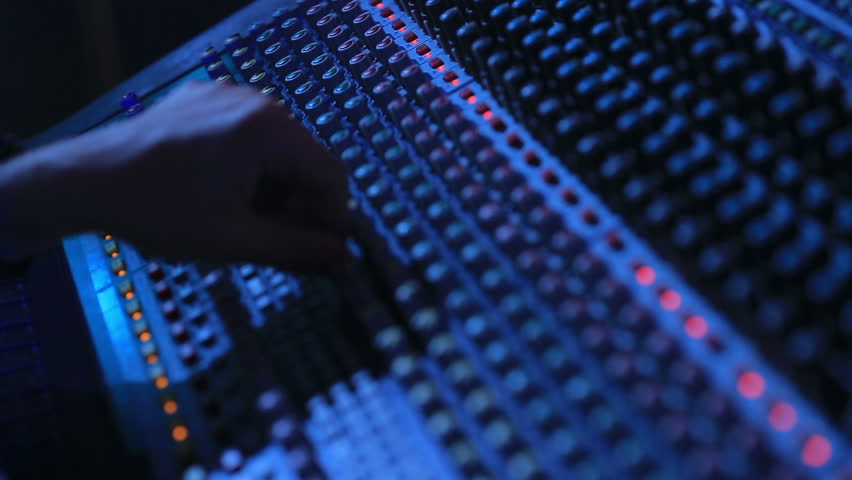 Hand of the sound producer | Shutterstock HD Video #11429519