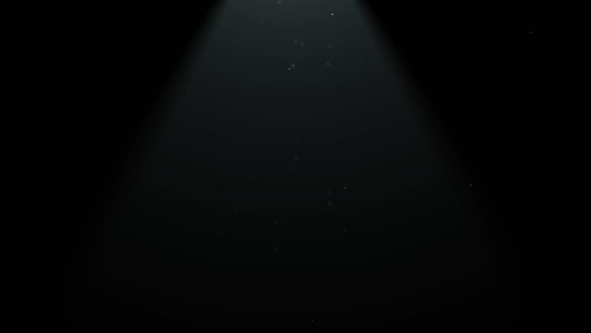 Light In Dark Room dust particles dark room with upper light stock footage video