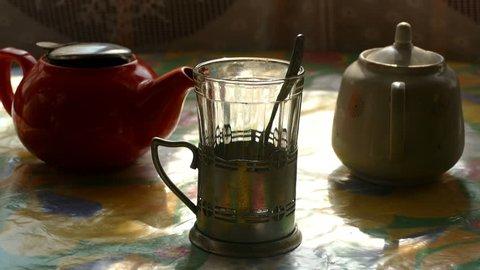 Morning still-life with tea hd