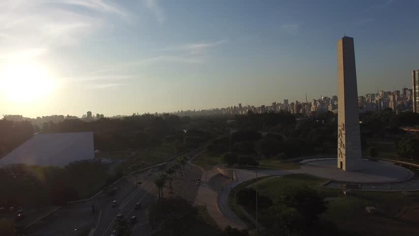 Aerial View Ibirapuera Park of Sao Paulo city, Brazil #11447429