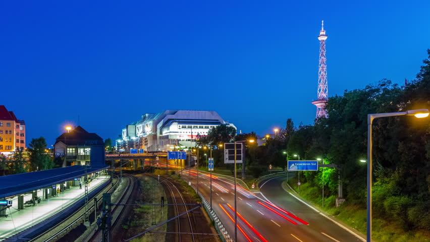 Berlin Skyline City Timelapse with Traffic on road. | Shutterstock HD Video #11466089