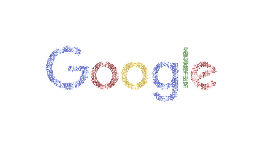 Editorial Animation: Numbers and symbols form the Google logo. Google new logotype presented September 2nd 2015. More logotypes and color backgrounds available - check my portfolio.