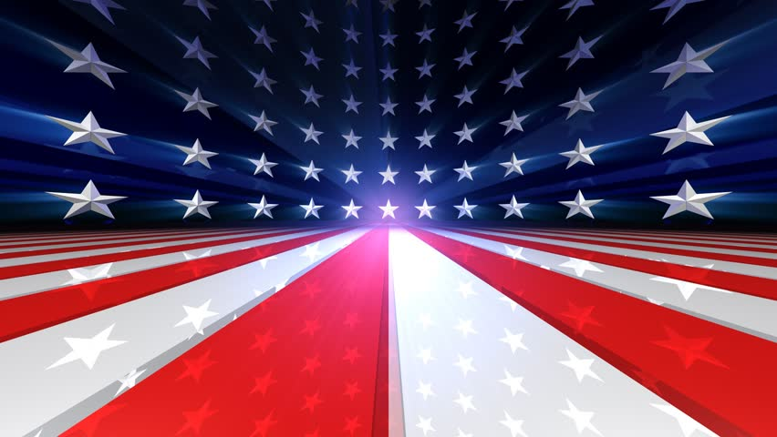 Looping US Flag Stars- and Stripes Animation