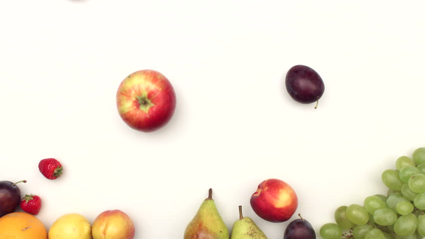 Fresh fruits moving on white background | Shutterstock HD Video #11521718