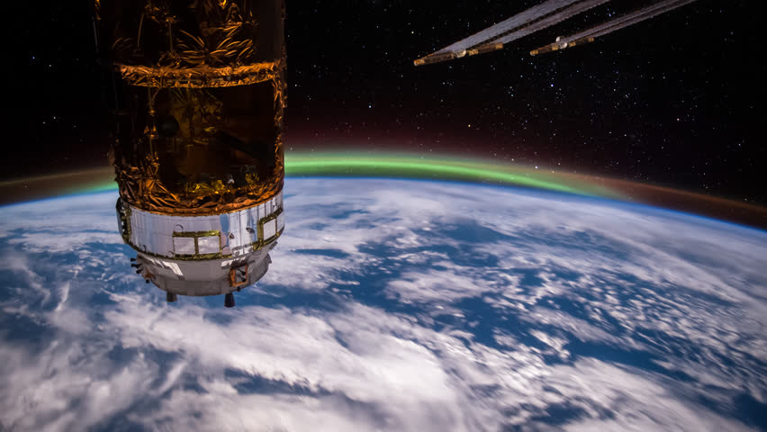 27th August 2015: Planet Earth seen from the International Space Station with Aurora Borealis over the earth, Time Lapse 4K. Images courtesy of NASA Johnson Space Center : http://eol.jsc.nasa.gov