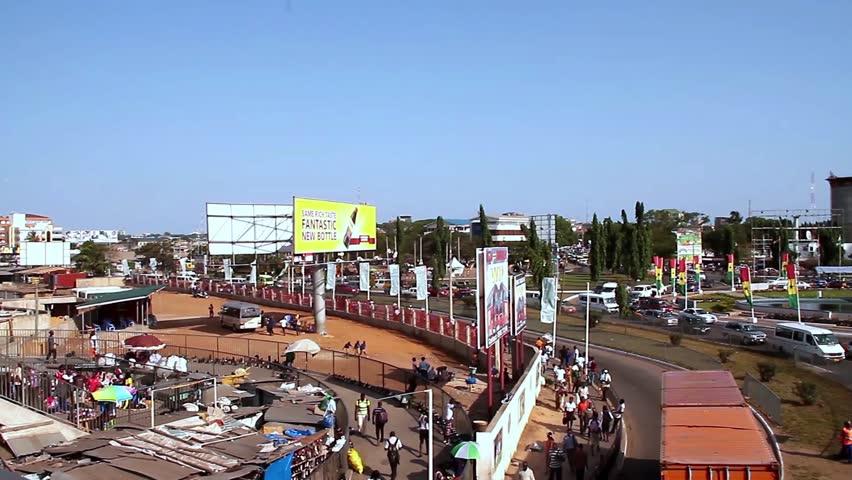 Accra Ghana , July 2014: Wide View Kwame Nkrumah Mausoleum