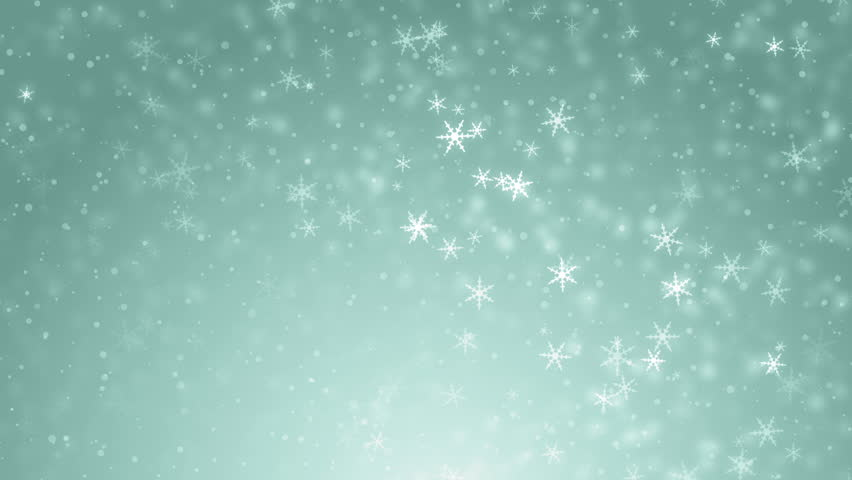 Falling Snowflakes On A Turquoise Background Stock Footage Video ...